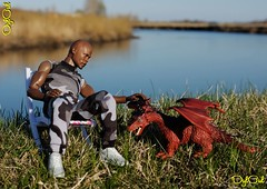№359. On the River (OylOul) Tags: oyloul 2018 q2 16 action figure soldier story