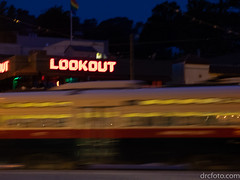 Lookout, train (David R. Crowe) Tags: blur energy light mechanism railway sign technology train transportation vehicle sanfrancisco california unitedstates