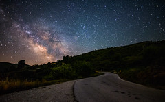 Milky Way in Greece (free3yourmind) Tags: milky way greece achaea achaia peloponnese road trip travel range mountain hill expore night sky stars starry dark skies