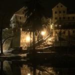Český Krumlov after dark, South Bohemia, Czech Republic thumbnail