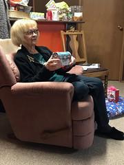 Mom Xmas Morning (daryl_mitchell) Tags: winter saskatchewan canada 2017 xmas regina mom gift opening