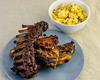 Sunday dinner. Slow roasted lamb bones and cauliflower cheese. (garydlum) Tags: cauliflowercheese belconnen lamb lambbones canberra cauliflower australiancapitalterritory australia au