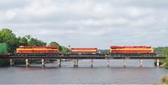 tomoka5 (Fan-T) Tags: fec tomoka river bridge gevo es44ac champion florioda east coast