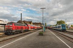 Dieselparadijs Lindau Hbf in de vroege avond. (Hans Wiskerke) Tags: lindaubodensee bayern duitsland de