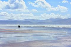 Beach fishing (Frank Fullard) Tags: frankfullard fullard beach strans sand sea surf ocean atlantic inch dingle tralee kerry irish ireland street sky clouds blue sunshine