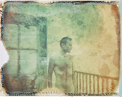 Faint (///Brian Henry) Tags: roidweek2018 polaroid week 2018 expired film instant abandoned decay iduv hospital self portrait male nude