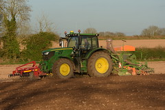 John Deere 6155R Tractor with a HE-VA Front Press, Amazone ADP 3000 Special Seed Drill & Power Harrow (Shane Casey CK25) Tags: john deere 6155r tractor heva front press amazone adp 3000 special seed drill power harrow onepass jd green castletownroche traktor tracteur traktori trekker trator ciągnik sow sowing set setting drilling tillage till tilling plant planting crop crops cereal cereals county cork ireland irish farm farmer farming agri agriculture contractor field ground soil dirt earth dust work working horse horsepower hp pull pulling machine machinery grow growing nikon d7200
