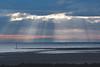 Sun Rise Sun Beams (Lord Edam) Tags: beach sea sand groynes sunrise sunrays