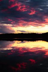 Afterburn (Olli Tasso) Tags: beautiful sunset auringonlasku kaunis maisema landscape reflection heijastus lake toutonen suomi finland pirkanmaa color järvi lempäälä väri dusk cloudy clouds pilvet pilvinen