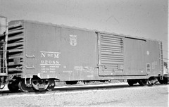 Nationales de Mexico boxcar at Colton in 1975 4779 (Tangled Bank) Tags: old classic heritage vintage train railway railraod north american rolling stock equipment nationales de mexico boxcar colton 1975 4779 ndem national