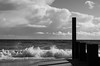 Crash of waves (MKREALITY) Tags: waves crash sea beach bournemouth groyne england blackandwhite monochrome ruleofthirds f64group cloudy landscape photography nikon d5100 travel adventure explore