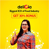 Delicia : Decentralized Food Network connecting Food retailers and consumers (deliciateam) Tags: bitcoin ico cryptocurrency food delicia