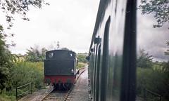 Mendip Vale loop, 28 Jul or 3 Aug 1985 (Ian D Nolan) Tags: railway esr prinzflashmaticgt7 epsonperfectionv750scanner 35mm mendipvale 060st 68005 robertstephenson station