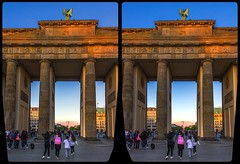 Brandenburger Tor 3-D / CrossView / Stereoscopy / HDRaw (Stereotron) Tags: saxony sachsen dresden elbflorenz brandenburgtor europe germany deutschland crosseye crossview xview pair freeview sidebyside sbs kreuzblick 3d 3dphoto 3dstereo 3rddimension spatial stereo stereo3d stereophoto stereophotography stereoscopic stereoscopy stereotron threedimensional stereoview stereophotomaker stereophotograph 3dpicture 3dimage twin canon eos 550d yongnuo radio transmitter remote control synchron kitlens 1855mm tonemapping hdr hdri raw availablelight sunset