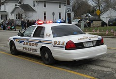 Akron Police Department (Evan Manley) Tags: akron ohio policedepartment fordcrownvictoria k9 procession policecar