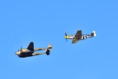 """P-51, & P-38 (Andrew """"MuseumAndy"""" Boehly) Tags: aircraft airplanes arizona aviation davismonthanairforcebase dmafb usaf unitedstatesairforce warbirds heritageflight heritageflightconference"""