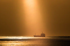 When The Boat Comes In (ianbonnell) Tags: merseyside liverpool sunset sunbeam ship boat