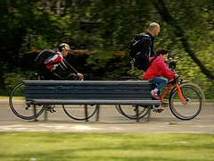 Rushing  Around (Clare-White) Tags: vondel cycling fast wheels amsterdam