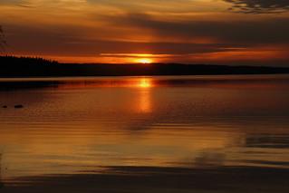 The sunday evening sunset.