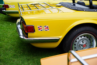 TR6 in yellow