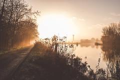 DSCF1630.jpg (zuikonex) Tags: hannover hanover leine wasserturm dawn morning river