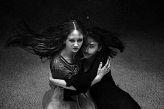 Only each other (R J Poole - The Anima Series) Tags: poole rjpoole lismore nsw australia art photographic fine artist photography prime lens leica leicas medium format portrait portraiture people anima series unusual strange dark low light studio lighting ringlight emotive emotional raw emotion original creative contemporary modern preraphaelite digital photoshop adobe haunting beautiful surreal surrealism artistic innovative jung jungian psychological psychology symbolic symbolism face female feminine storytelling soulful mystery mystic mysterious esoteric gothic goth other underwaterphotography