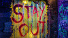 Scary stay out sign (w.abutabikh) Tags: scary sign zombie horror stay out graffito decoration art design acrylic colorful pattern texture color wallpaper graphic backdrop shape grunge colors 3d graphics drawing modern yellow painting style artistic light decorative lines retro backgrounds digital technology line floral threedimensional lights frame gold creative wave bright geometric rainbow artwork paint wall space effects bubble vintage oil alley
