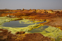 The colorful volcanic landscape of dallol in the danakil depression, Afar region, Dallol, Ethiopia (berengere.cavalier) Tags: abyssinia acid afar afardepression africa african arid beauty burn color colorful dallol danakil danakildepression day desert earth eastafrica ethio16230 ethiopia formation formations geological geology geothermal green heat hell horizontal hornofafrica hot hotspring hotsprings lake landscape minerals moon natural nature nopeople orange outdoor outdoors pool saline serenity solitude spring sulfur sulfurous sulphur surreal tourism travel volcanic volcano yellow afarregion