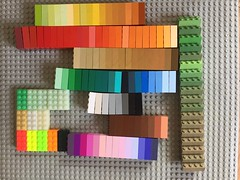 Too many colors (7xC collection) (nathan.francis49) Tags: colorrun shades 2x4 testbrick lego bayer color