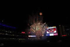 Friday Night Fireworks (Chuck Diesel) Tags: fireworks baseball ballpark summer atlanta starwarsnight day atlantabraves suntrustpark