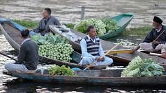 Vegetable vendors (Nagarjun) Tags: floatingvegetablemarket flowers dallake kashmir srinagar commerce trade veggies kohlrabi dawn morning sunrise green