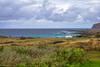 On the shore / На берегу (Vladimir Zhdanov) Tags: travel chile polynesia rapanui easterisland sky cloud landscape ocean water wave rock grass ahutepitokura