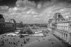 B+W Paris (zdaia) Tags: paris thelouvre museum noon bw cameraraw