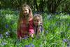 alyssia and caitlin bluebells kneeling (grahamdale74) Tags: bluebells 2018 alyssia caitlin chel