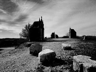 Gignac  - South France -  Le Chemin de Croix                                            ( Black & White version )