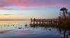Lake Washington sunset. (Jill Bazeley) Tags: lake washington melbourne florida sunset sunrise dock pier nikon space coast brevard county sky skies cielos cielo nubes clouds park