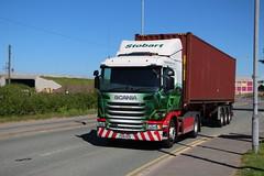 L7981 SHARRON LYNNE  PO18 NZK (Barrytaxi) Tags: eddie eddiestobart stobart scania gcabs widnes tesco ports