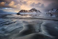 Skagsanden, Lofoten (sven483) Tags: skagsanden reine lofoten ramberg leknes winter sunset beach pattern light storm clouds landscape norway