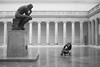 The Thinkers (Plan R) Tags: thinker rodin legionofhonor sanfrancisco sf museum beauxarts stroller child monochrome blackandwhite leica m 240 summilux 35mm