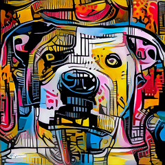 Spot (Ross Studio) Tags: dog animal breed canine cute face french mammal paws pet portrait pup puppy purebred whiskersterrier americanstaffordterrier digitalillustration background abstract design backdrop artistic wallpaper decoration texture pattern art decorative color illustration colorful grunge wave swirl messy grungy graphic anthonyross photomanipulation photoshop faceon publicdomain black blue orange red green brown purple yellow white eyes abstractart abstractdesign abstractpainting artlovers contemporaryart experimentalart hybrid doggy