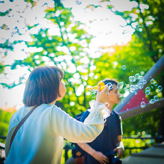 Blow bubbles (canu1832) Tags: dreamy people 458 45mm summer