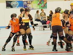 156 (Bawdy Czech) Tags: lcrd lava city roller dolls spit fires basin bombers bend or oregon april 2018 skate derby wftda flat track bout