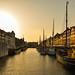 Colourful sunset on Copenhagen