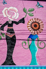 Street art.2 (Sonnie in Silver) Tags: painting building streetart art ajijic mexico jalisco lakechapala colorful flowers