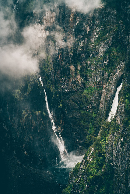 Deep into a ravine in Norway