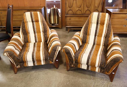 Mid-Century Upholstered Chairs ($179.20)