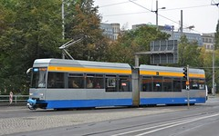 Leipzig, Willy-Brandt-Platz 06.10.2016 (The STB) Tags: tram tramway strassenbahn strasenbahn publictransport citytransport öpnv germany deutschland