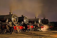 Lostock hall at night (Nigel Valentine) Tags: east lancashire railway night steam 45212 42765 45407 8f black five crab