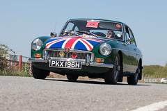 MG B GT / 48th Ipswich to Felixstowe Historic Vehicle Run 2018 (mattbeee) Tags: c6 car classiccar drive felixstowe flag historic ipswich ipswichtofelixstowe ipswichtransportmuseum lowangle motor rally road roadrun run unionflag vehicle