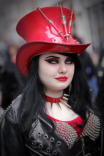 Street portrait from Sunday at the Whitby Gothic Weekend, April 2018